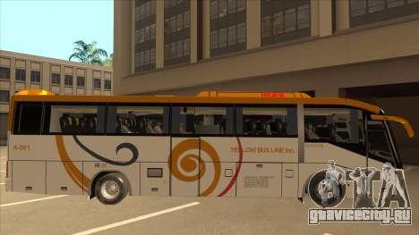 Higer KLQ6129QE - Yellow Bus Line A-001 для GTA San Andreas вид сзади слева