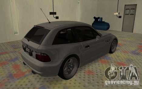 BMW Z3 M Power 2002 для GTA San Andreas вид справа