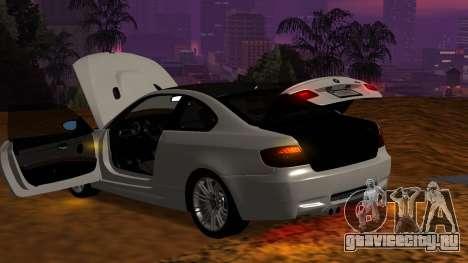 BMW M3 E92 для GTA San Andreas вид сверху