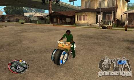 Tadpole Motorcycle для GTA San Andreas вид справа