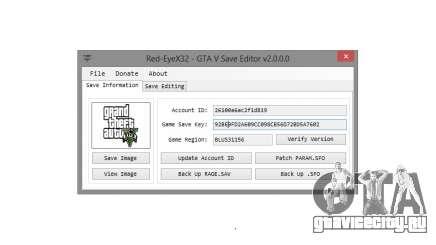 GTA V Save Editor v2.0 by Red-EyeX32 для GTA 5