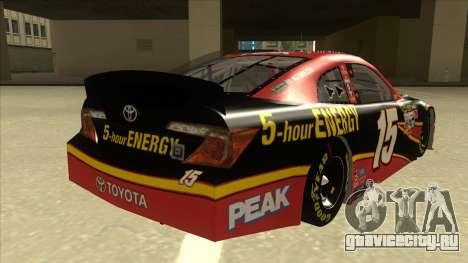 Toyota Camry NASCAR No. 15 5-hour Energy для GTA San Andreas вид справа