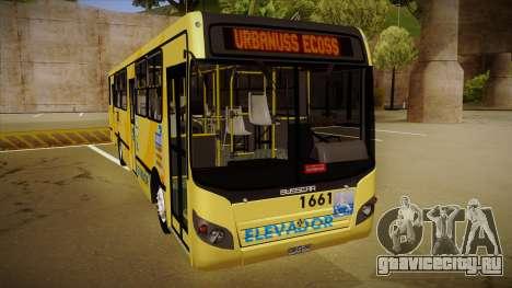Busscar Urbanuss Ecoss MB OF 1722 M BHBUS для GTA San Andreas вид слева