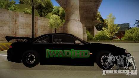 Nissan s14 200sx [WAD]HD для GTA San Andreas вид сзади слева
