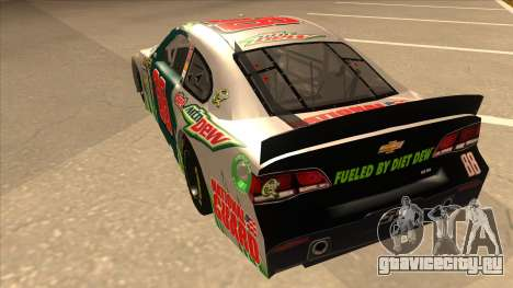 Chevrolet SS NASCAR No. 88 Diet Mountain Dew для GTA San Andreas вид сзади