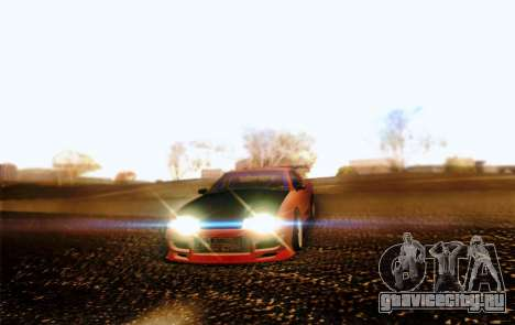 Elegy Drift Concept для GTA San Andreas вид изнутри