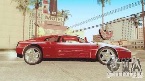 Ferrari 348 TB для GTA San Andreas вид сзади слева