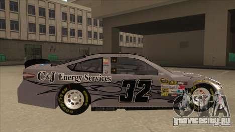 Ford Fusion NASCAR No. 32 C&J Energy services для GTA San Andreas вид сзади слева