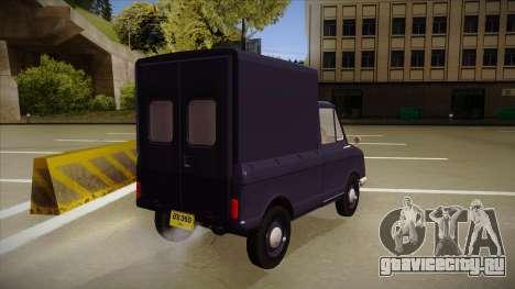 Suzulight Carry 360 для GTA San Andreas вид изнутри