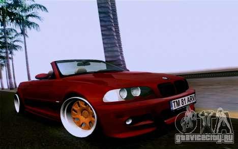 BMW M3 Cabrio для GTA San Andreas вид справа