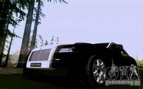 Rolls-Royce Ghost для GTA San Andreas вид сзади слева