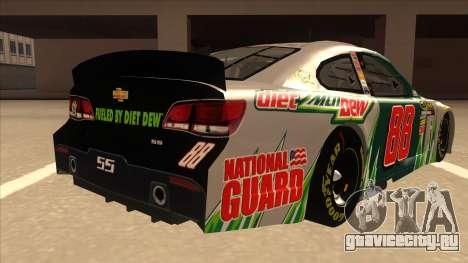 Chevrolet SS NASCAR No. 88 Diet Mountain Dew для GTA San Andreas вид справа