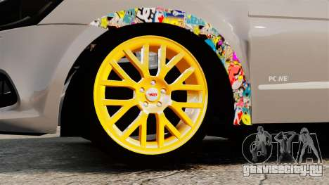 Volkswagen Gol G6 2013 Turbo Socado для GTA 4 вид сзади