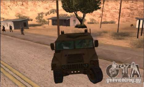 Hummer H1 из игры Resident Evil 5 для GTA San Andreas вид сзади слева