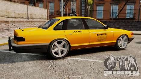 Taxi с новыми дисками для GTA 4 вид слева