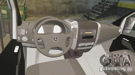 Mercedes-Benz Sprinter Croatian Police [ELS] для GTA 4 вид сзади