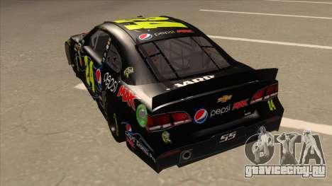 Chevrolet SS NASCAR No. 24 Pepsi Max AARP для GTA San Andreas вид сзади