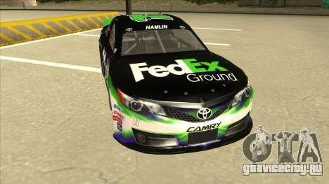 Toyota Camry NASCAR No. 11 FedEx Ground для GTA San Andreas вид слева