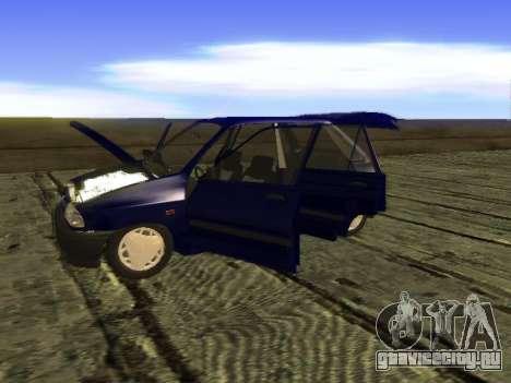 Kia Pride Hatchback для GTA San Andreas вид изнутри