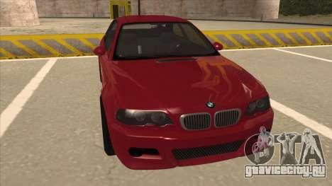 BMW M3 Tuned для GTA San Andreas вид слева