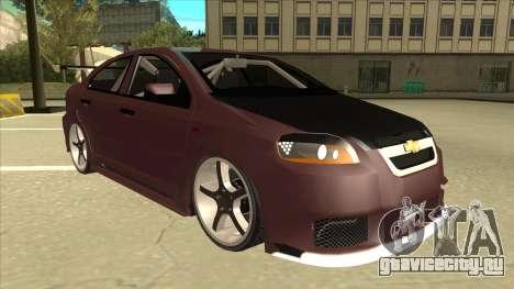 Chevrolet Aveo LT Tuning для GTA San Andreas вид слева