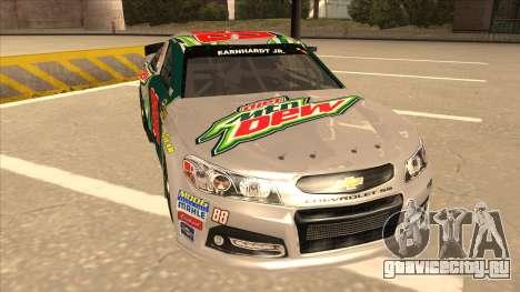 Chevrolet SS NASCAR No. 88 Diet Mountain Dew для GTA San Andreas вид слева