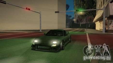 Mazda RX-7 STANCENATION для GTA San Andreas салон