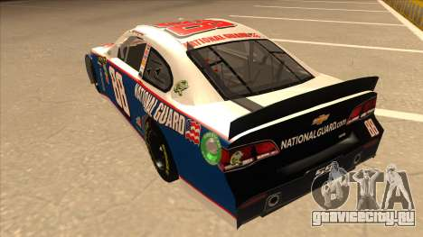 Chevrolet SS NASCAR No. 88 National Guard для GTA San Andreas вид сзади