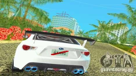 Subaru BRZ Type 4 для GTA Vice City вид сзади