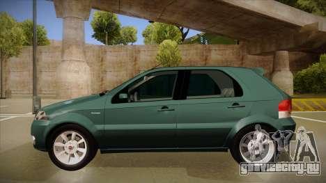 FIAT Palio ELX 2010 для GTA San Andreas вид сзади слева