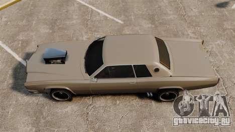 Обновлённый Buccaneer v2 для GTA 4 вид сзади слева