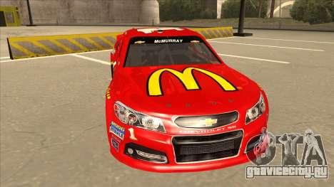 Chevrolet SS NASCAR No. 1 McDonalds для GTA San Andreas вид слева