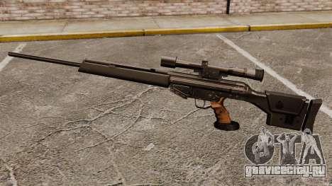 Снайперская винтовка HK PSG10 для GTA 4 третий скриншот