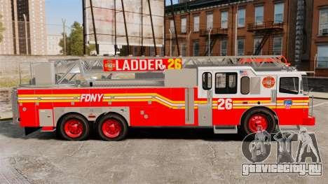 Ferrara 100 Aerial Ladder FDNY 2013 [ELS] для GTA 4 вид слева
