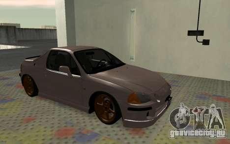 Honda CRX DelSol TMC для GTA San Andreas вид слева