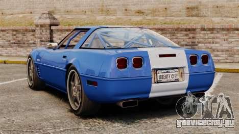 Chevrolet Corvette C4 1996 v2 для GTA 4 вид сзади слева