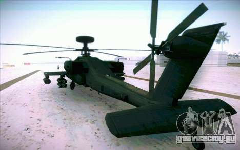 AH-64 Apache для GTA San Andreas вид слева