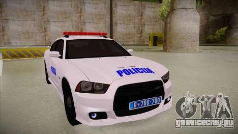 Dodge Charger SRT8 Policija для GTA San Andreas вид слева