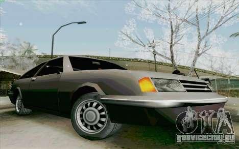 Manana Hatchback для GTA San Andreas вид сзади слева