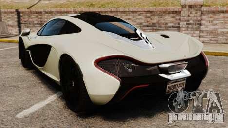 McLaren P1 [EPM] для GTA 4 вид сзади слева