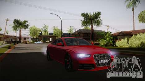 Audi RS5 2012 для GTA San Andreas вид изнутри