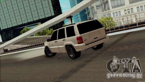 Jeep Grand Cherokee для GTA San Andreas вид сзади слева