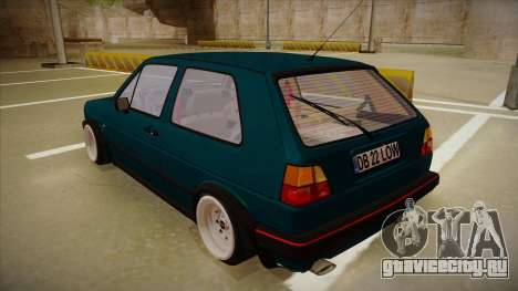 Volkswagen Golf MK2 Stance Nation by Razvan11 для GTA San Andreas вид справа