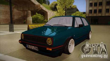 Volkswagen Golf MK2 Stance Nation by Razvan11 для GTA San Andreas