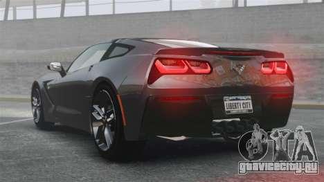 Chevrolet Corvette C7 Stingray 2014 для GTA 4 вид сзади слева