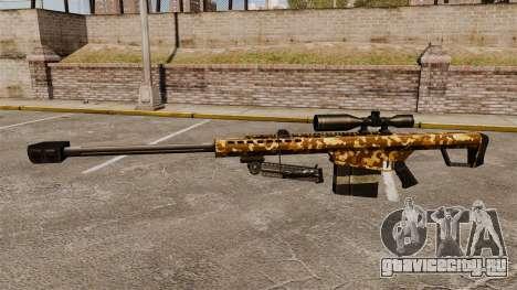 Снайперская винтовка Barrett M82 v9 для GTA 4 третий скриншот