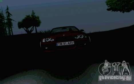 BMW M3 Cabrio для GTA San Andreas вид сзади