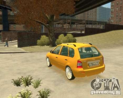 Лада Калина Универсал для GTA 4 вид слева
