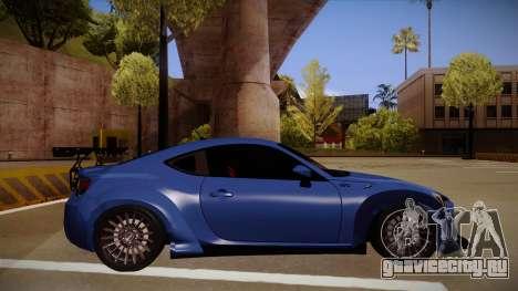 Scion FR-S Rocket Bunny для GTA San Andreas вид сзади слева