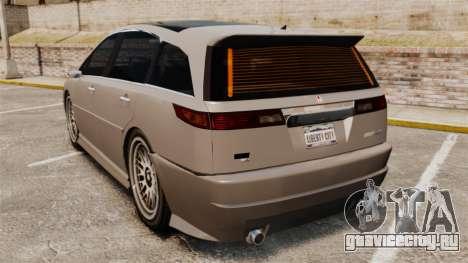 Dinka Honda Odyssey JDM Version для GTA 4 вид сзади слева